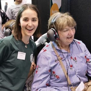 Photo of Guides 4 Sight client with audiologist.