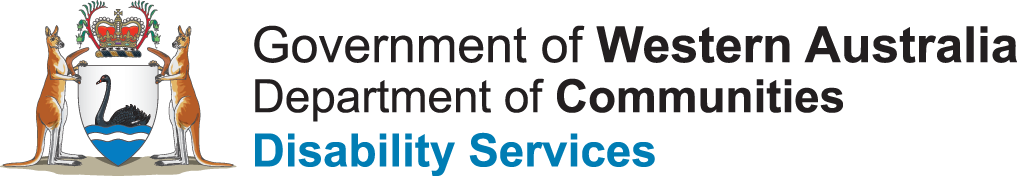 Picture: Logo Government of Western Australia Department of Communities Disability Services