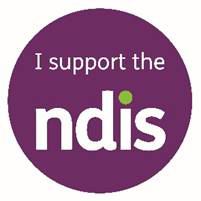 Picture: Logo I support the NDIS